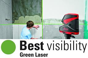 Laser croix rayon vert Leica Lino L2G+