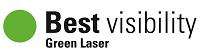 Logo laser vert best visibility